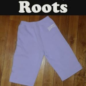 Size 6-12 months Roots purple jogging pants